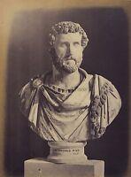 Scultura Di Moneta Imperatore Romano Cyrene Libia Vintage Albumina Ca 1865