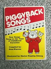 Vintage Piggyback Songs Song Book - new songs sung to favorite kid tunes - 1983
