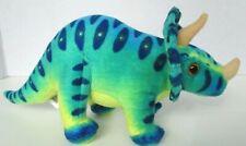 "Adventure Planet Stuffed Animal Plush Small 10"" Long Triceratops Dinosaur Toy"