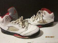Rare Nike Air Jordan 5 V Retro Olympic White Red Blue Mid 440888-103 SZ 5.5Y b18