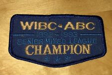 Vintage Bowling Patch WIBC ABC 1992 1993 Senior Mixed League Champion