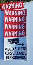 VIDEO SURVEILLANCE Security Decal  Sticker (if you are.5 pcs..) 3.75x3.25 in