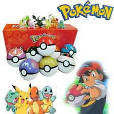 8Pcs Pokemon Ball Pokeball GO Actionfiguren Kinder Spielzeug Geschenk Xmas