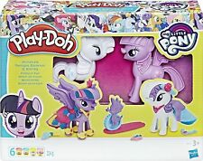 PLAY-DOH My Little Pony Princess Twilight Sparkle and Rarity Fashion Fun Set New