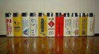 11 ACCENDINI CLIPPER/BRIO-LARGE SIZE-ANNI 90-LIGHTERS-MECHEROS-BRIQUET-SMOKING