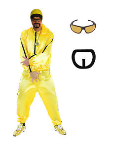 Mens 90s Ali G Rapper Fancy Dress Costume Ali G Costume Tracksuit Free Goggles