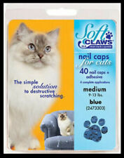 Soft Claws Nail Caps Cats Kittens Paws Medium 9-13 lbs Blue