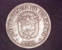 1929 Republica De Panama - 5 Cinco Centesimos De Balboa - Low Mint Half Million