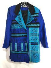 Tribal Wool Coat Jacket SZ M Anthony Mark Hankins Southwest Boho Art Wear