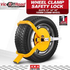 """Wheel Defender Lock Clamp 13"""" 14"""" 15"""" Car Caravan Trailer 195mm-235mm"""
