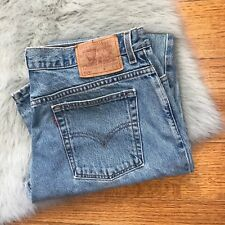 Levi's 505 Low Rise Straight Leg 16 MIS L USA Made 100% Cotton Vintage Jeans