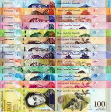 VENEZUELA - Lotto 13 banconote a 2 - a 100.000 Bolivares FDS - UNC