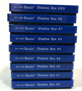 Crafting Lot of Sizzix SHADOW BOX #0-9 Numbers Set - 9 Dies Provo Craft Ellison