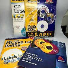 Lot of 130 Sheets DVD/CD Labels 2 per sheet Ink Jet and Laser Memorex and Avery