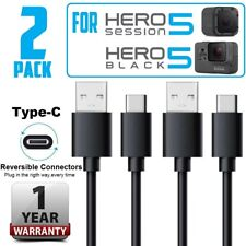 2pack For GoPro Hero 5 Session Camera USB Data Sync Power Charger TYPE C Cable