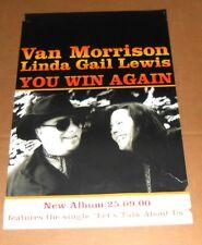 Van Morrison Linda Gail Lewis You Win Again Poster Original Promo 30x20 RARE