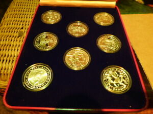 Olympia 1992 / Spanien / Barcelona / 8 x 1 Crown Gibraltar / 925 er Silber