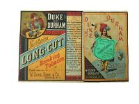 Antique Victorian Duke Of Durham Long Cut Cigarette Tobacco Paper Label W. Duke