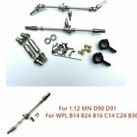 For MN D90 D91/ WPL B14 B16 B24 C14 C24 B36 RC Car Upgrade Metal Rear Axle Kits