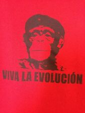 Viva La Evolucion Red T-Shirt Sz L