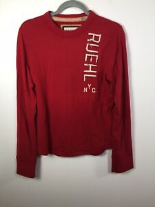 Ruehl Men's No. 925 Red Long Sleeve T Shirt Size S Cotton