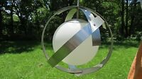 1950s MCM Space Age Sputnik Laurel Saturn's Orb Rare Brushed Chrome Chandelier