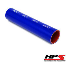 """HPS 2-1/8"""" ID 1 Foot Long 4-ply Reinforced Silicone Coupler Tube Hose Blue 54mm"""