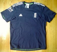 """ENGLAND CRICKET 46""""- 48"""" BLACK/WHITE S/S ADIDAS SHIRT JERSEY PRE-OWNED EXCELLENT"""