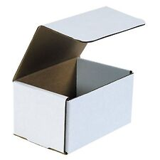 50- 7x5X4 White Corrugated Carton Cardboard Packaging Shipping Mailing Box Boxes