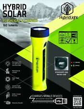 SOLAR Rechargeable Torch LED Solar Flashlight WATERPROOF Fishing Boating Camping