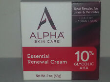 Alpha Skin Care Essential Renewal Cream Alpha Hydrox 10% Glycolic AHA