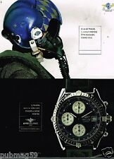 Publicité advertising 1998 La Montre Breitling Chronomat GT Diver Pro