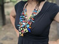 Zuni Animal Fetish Necklace Native American Hand Strung Heishi Treasure Pueblo