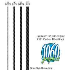 """1/4"""" Wide SOLID PINSTRIPES / CARBON FIBER BLACK / Premium 3M Wrap Vinyl Stripes"""