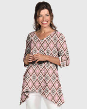 NWT Fresh Produce Diamonds Santa Barbara Top T-shirt size XL $65 MADE IN USA