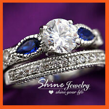 Unbranded Sapphire White Gold Filled Fashion Rings