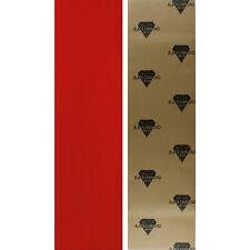 "Black Diamond Skateboard Grip Tape Sheet Red 9"" x 33"" Griptape"
