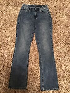 LIKE NEW WOMENS MAURICES JEANS HIGH-RISE CURVY SIZE 6 LONG