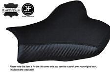 Empuñadura de carbono Negro Puntada Personalizado Se Ajusta Suzuki Gsxr 1000 09-12 Cubierta de asiento delantero