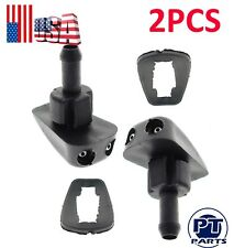 2PCS Windshield Washer Sprayer Nozzle For Tacoma Camry Civic Focus RX-7 Impreza
