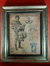 """Mc-Better: Army Airborne """"Cheap Thrills"""" 173rd Brig. Framed Personalized"""