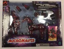 Micronauts Baron Karza and Andromeda Clear Red MIB (opened?)