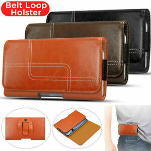 Belt Clip Loop Holster Leather Case Cover For Samsung S21 Ultra S20 Plus S10 S9