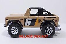 2010 Matchbox #90 '72 Ford Bronco 4x4 MATTE BEIGE/MINT