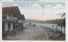View in Rocky Glen Park Scranton PA handsome vintage postcard postally used 1921