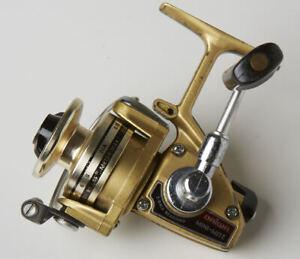 Vintage Daiwa Mini-Mite Spinning Reel Gold 2 B Ball Bearing