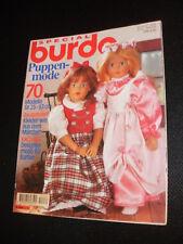 Burda Special Spezial E 285 Puppenmode Schnittmuster für Käthe Kruse Zapf Barbie