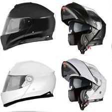 Casco Moto Scooter Modulare Integrale Omologato Visiera Sole Bianco Nero