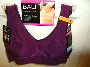 BALI WIREFREE PURPLE PLUM BRA FLEX FIT COMFORT REVOLUTION LIGHTLY LINED SZ S