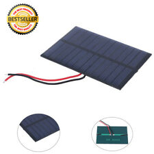 Portable Mini 0.6W 6V Solar Panel Energy Polysilicon Outdoor Home+100mm Cable